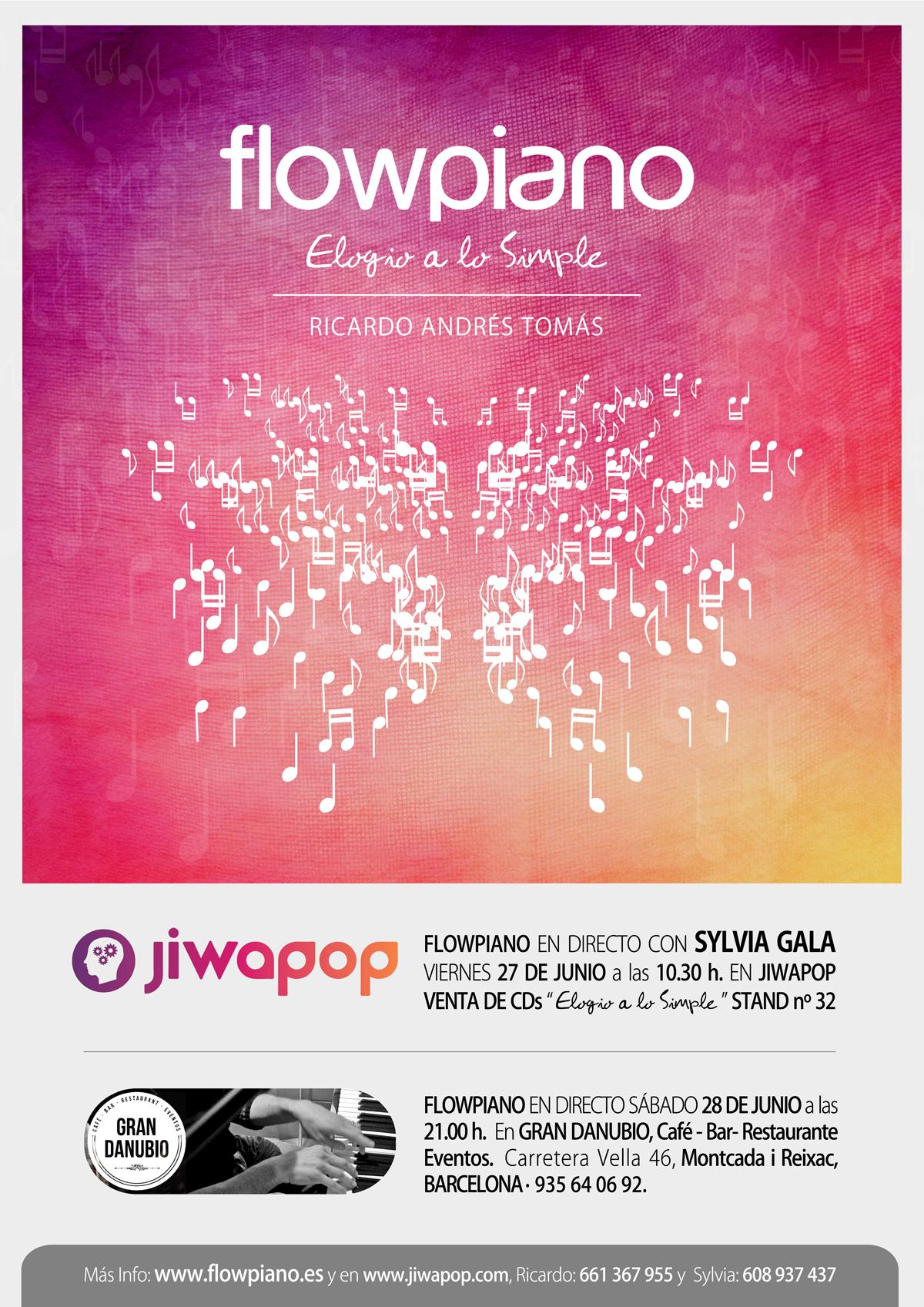 Cartell flowpiano-Jiwapop mailing